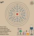 infographic element indium vector image vector image