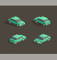 isometric green sedan vector image