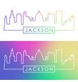 jackson skyline colorful linear style editable vector image vector image