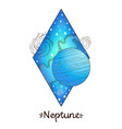 landscape of planet rhombus neptune vector image