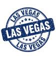 las vegas blue grunge round vintage rubber stamp vector image vector image