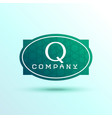 letter q label logo design for your brand vector image