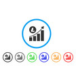 litecoin growing trend rounded icon vector image vector image