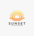 logo sunset gradient colorful style vector image