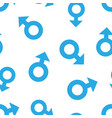 male sex symbol icon seamless pattern background vector image