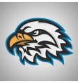Mascot head of an eagle Sport logo vector image