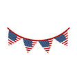 memorial day pennants flags decoration american vector image