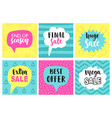 mobile sale banners template set vector image