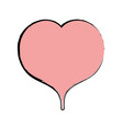 nice heart to love and romance symbol vector image vector image