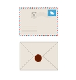 Old postage envelope with stamps isolated vector image vector image