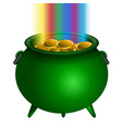 patrick day money pot vector image