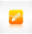 Pencil web icon Application button vector image vector image