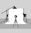 photography studio vector image vector image