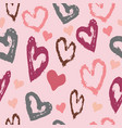 pink and red love hearts vector image vector image