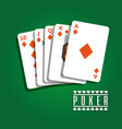 poker playing cards playing gambling diamond vector image