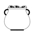 pot of gold coins saint patricks day related icon vector image vector image