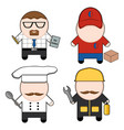 profession and stuff characters set vector image vector image