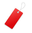 red realistic textured sell tag with rope vector image vector image