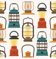 retro lantern or gas lamp pattern vector image vector image