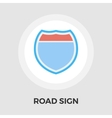 Road sign flat icon vector image vector image
