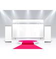 scene show podium for presentations vector image vector image