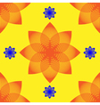 Seamless abstract flower pattern vector image vector image