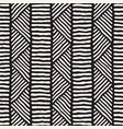 seamless geometric doodle lines pattern in black vector image vector image