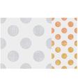 seamless polka dots texture pattern vector image vector image