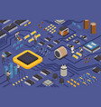 semiconductor element production composition vector image vector image