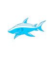 shark logo design sign outline isolated vector image vector image