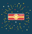 shining gift box icon in flat style vector image