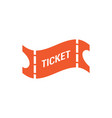 simple ticket graphic icon design template vector image vector image