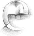 Sketch font Letter e vector image