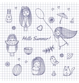 Sketch Hello summer vector image vector image