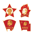 soviet badges vector image vector image