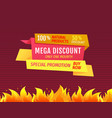special promotion buy now mega discount only month vector image