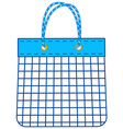 String shopping bag vector image