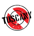 tuscany rubber stamp vector image vector image