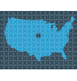 united states map made by pieces of puzzle vector image