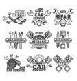 vintage labels set with of vector image vector image