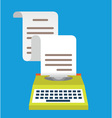 Vintage typewriter with paper Equipment for blog vector image vector image