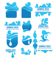water symbols and emblems vector image vector image