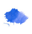 watercolor stain texture in blue color design vector image vector image