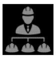 white halftone builder management icon vector image vector image