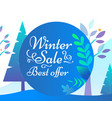 winter sale and best offer promotion card vector image vector image