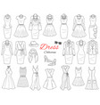 women s clothing collection vector image vector image