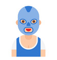 wrestler icon profession and job vector image vector image