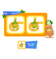12 differences funny fruit pear vector image vector image