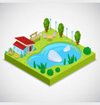 3d isometric country vector image