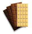 a set of chocolate bars with square patterns of vector image